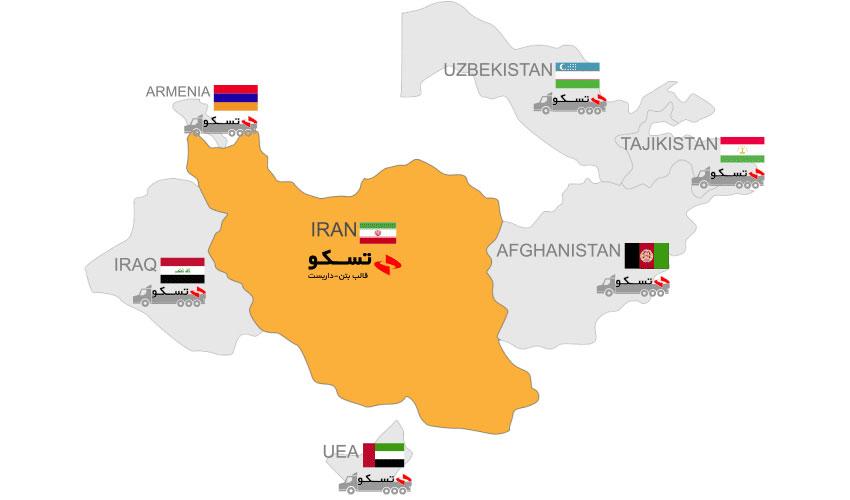 پراکندگی پروژههای تسکو در کشورهای منطقه