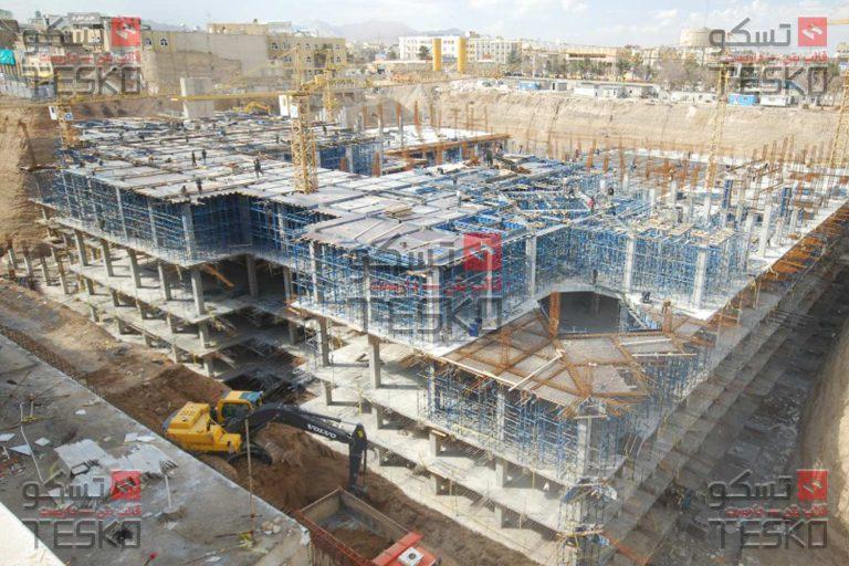 تسکو - قالب بتن و داربست پارکینگ توسعه حرم قم مجتمع عمرانی ایرانشهر