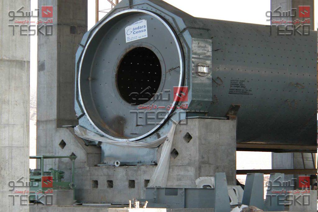 تسکو - تجهیزات قالبندی کارخانه کنستانتره سنگ آهن گل گهر