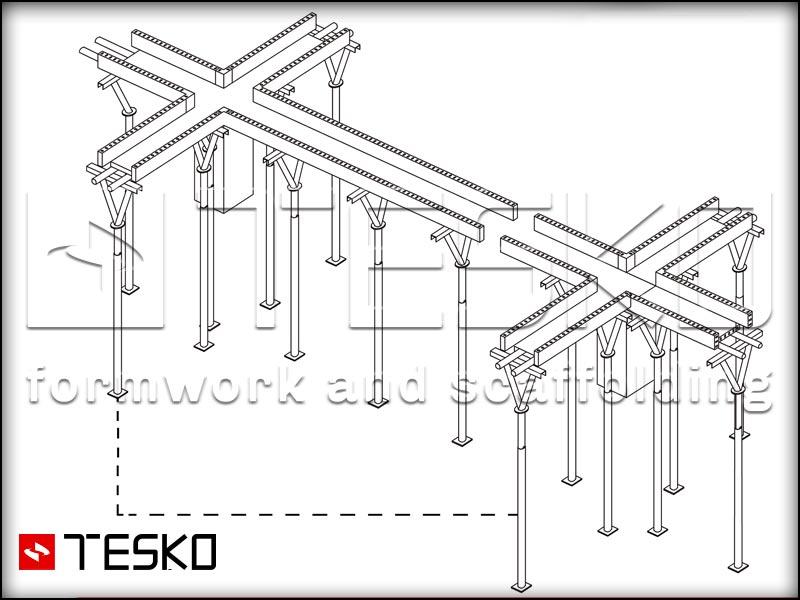 نقشه فنی جک سقفی تسکو