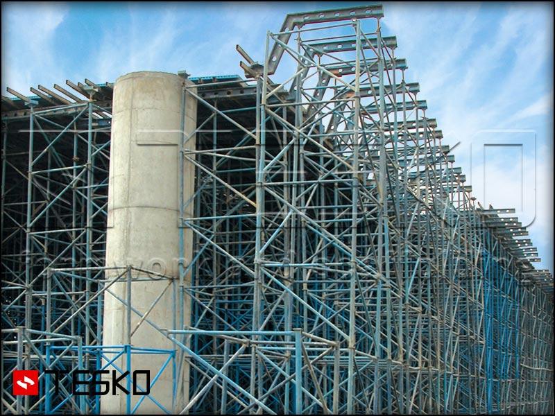 استفاده داربست مدولار مثلثی در پروژهها تسکو-3