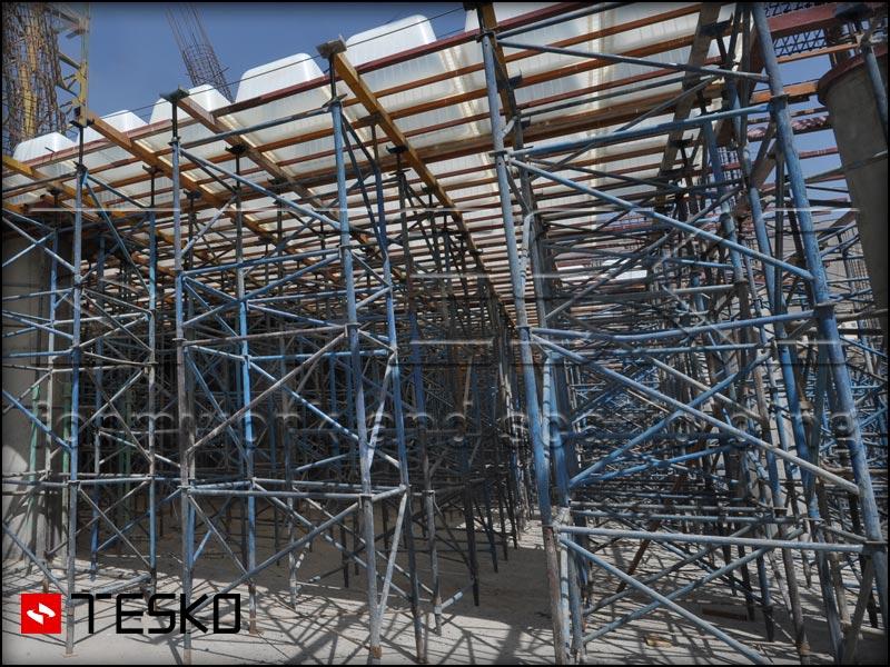 استفاده داربست مدولار مثلثی در پروژهها تسکو-2