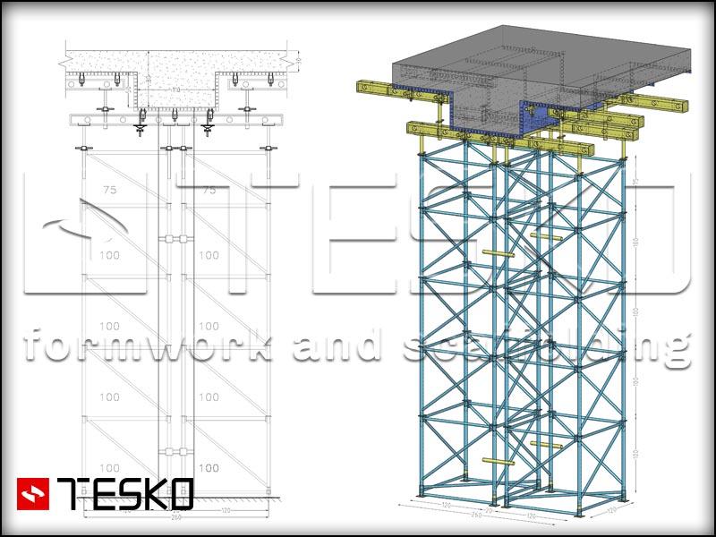 نقشه سه بعدی جک سقفی